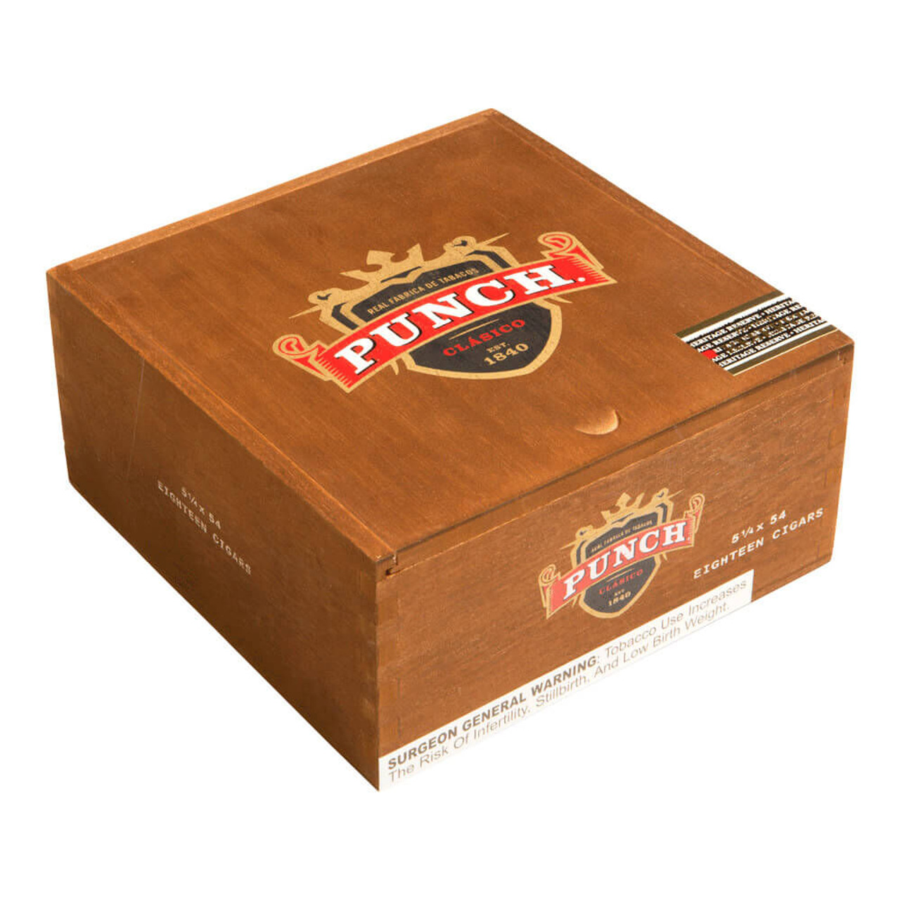 Punch Heritage Reserve Robusto Cigars - 5.25 x 54 (Box of 18)