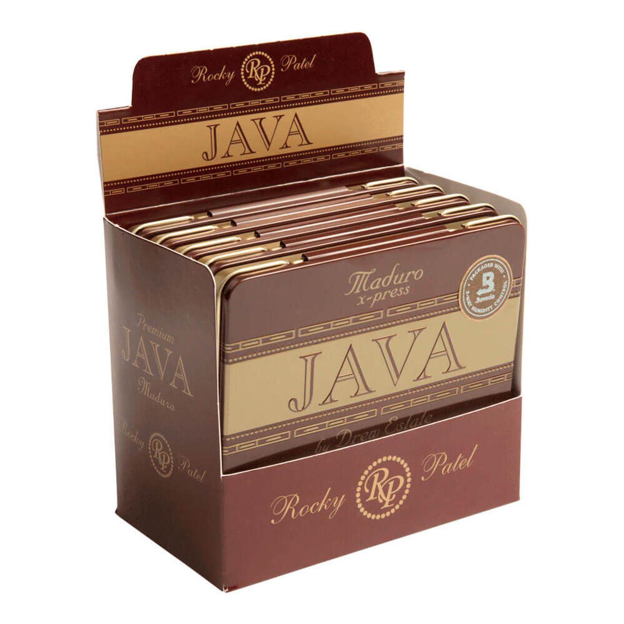 Rocky Patel Java Maduro X Press Cigars - 4 x 32 (5 Tins of 10 (50 total))