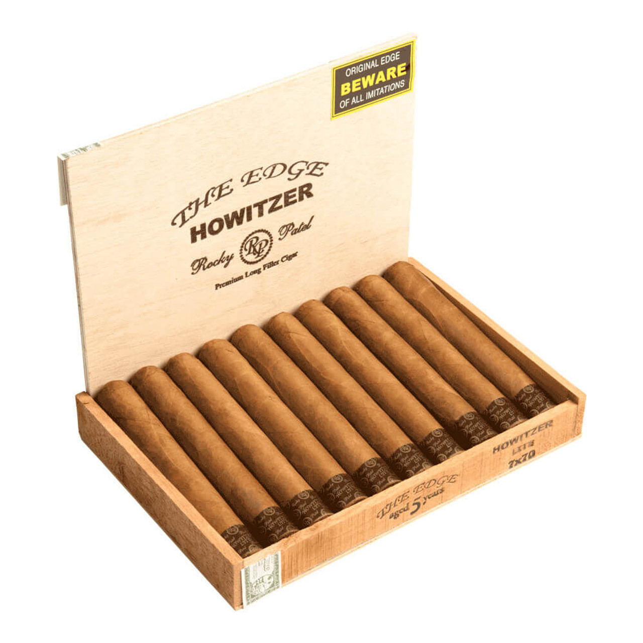 Rocky Patel The Edge Connecticut Howitzer Cigars - 7 x 70 (Box of 10)