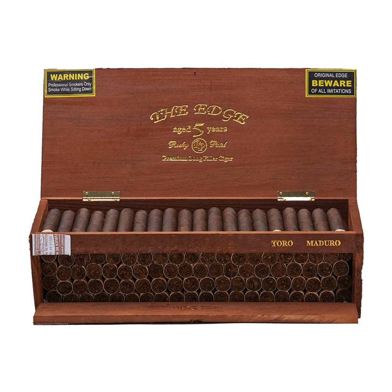 Rocky Patel The Edge Maduro Toro Tray Cigars - 6 x 52 (Box of 100)