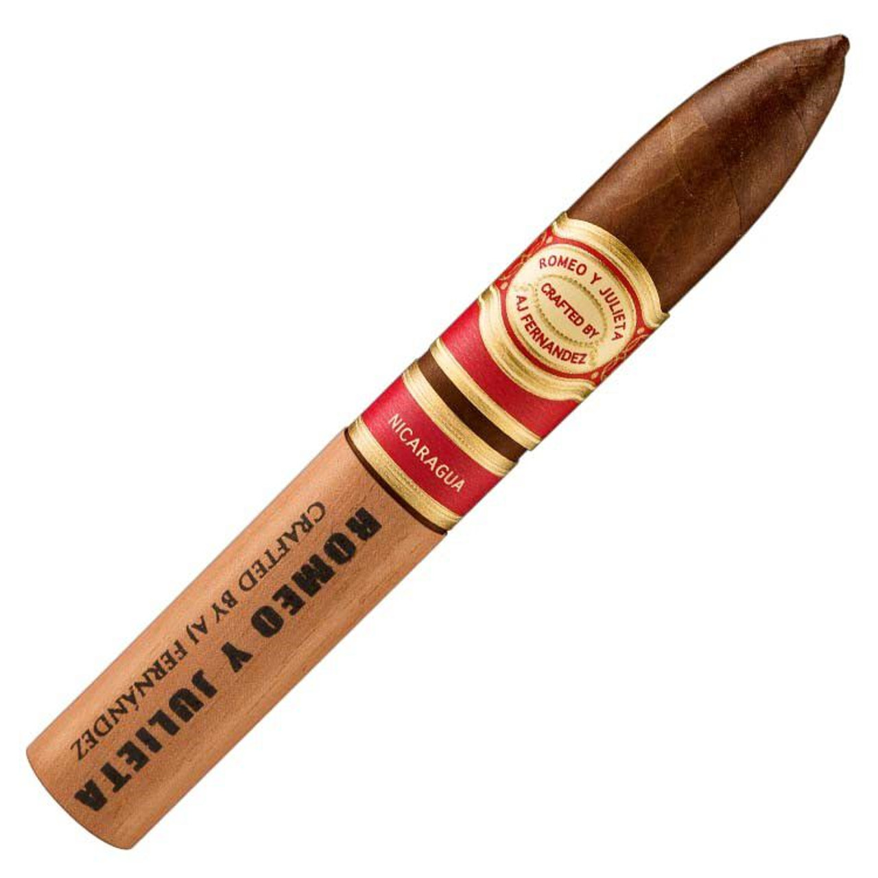Romeo y Julieta Crafted by AJ Fernandez Belicoso Cigars - 6 x 52 (Pack of 5)