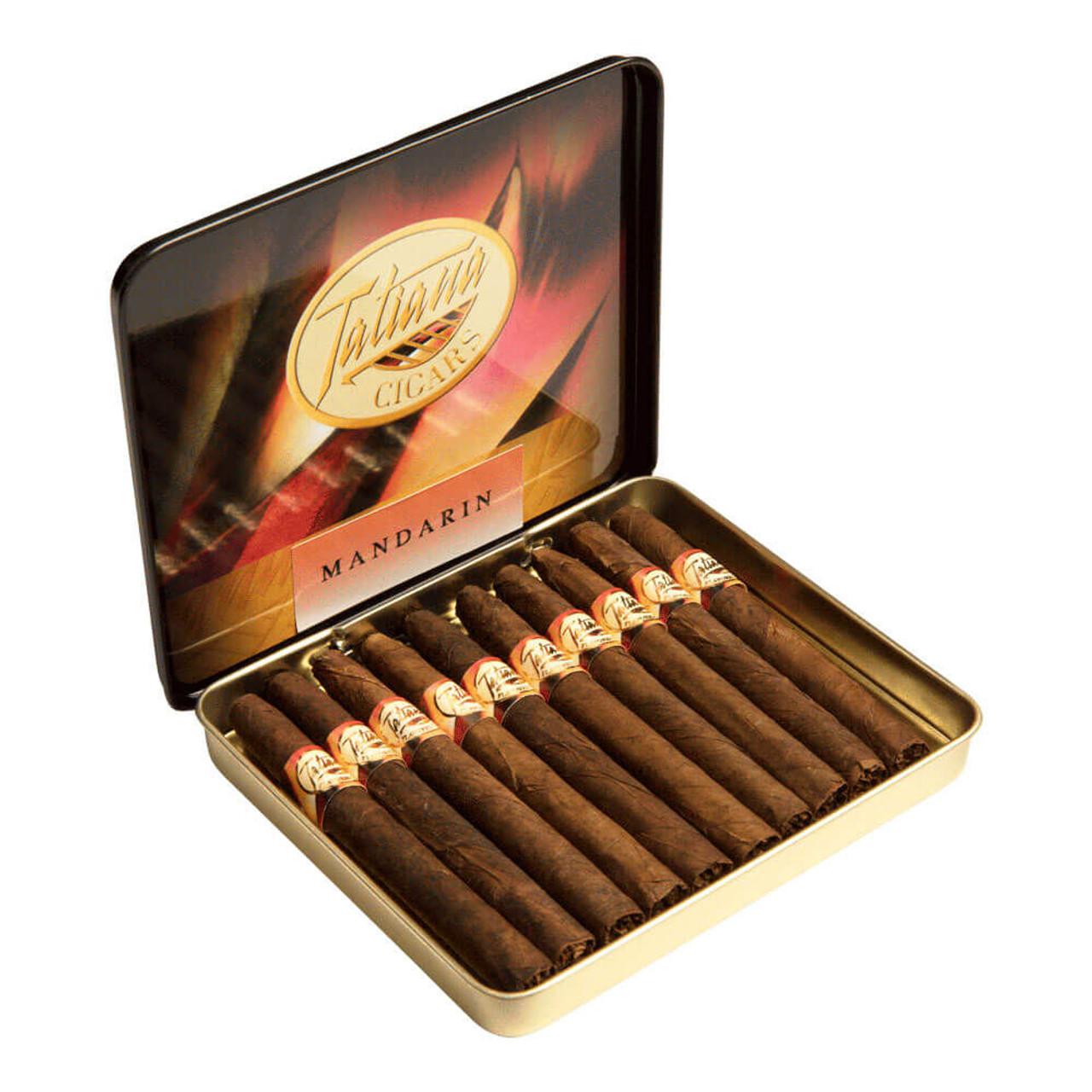 Tatiana Mini Tins Mandarin Cigars - 3.5 x 26 (5 Tins of 10 (50 total))
