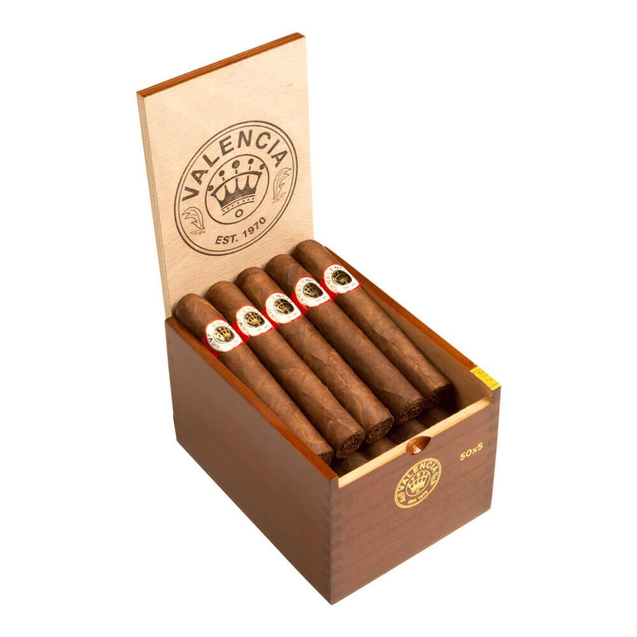 Valencia Sun Grown Robusto Cigars - 5 x 50 (Box of 20)