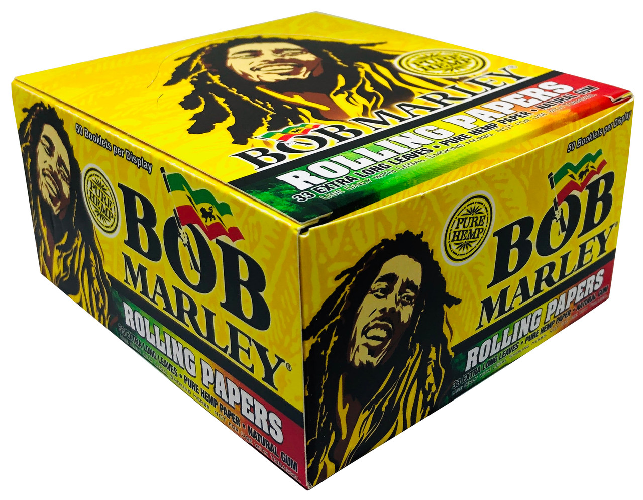 Bob Marley King Size Pure Hemp Natural Rolling Papers