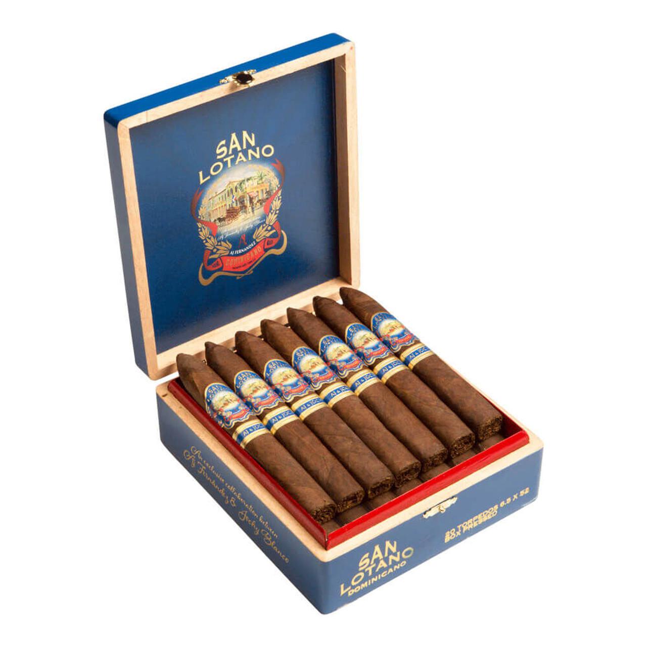 AJ Fernandez San Lotano Dominicano Torpedo Box Pressed Cigars - 6.5 x 52 (Box of 20)