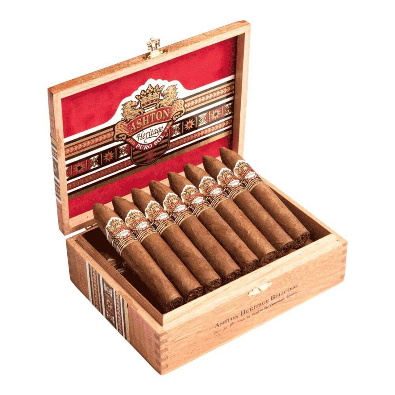 Ashton Heritage Puro Sol Belicoso #2 Cigars - 4.88 x 49 (Box of 25)