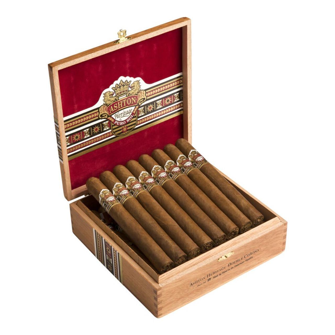 Ashton Heritage Puro Sol Double Corona Cigars - 7.0 x 52 (Box of 25)