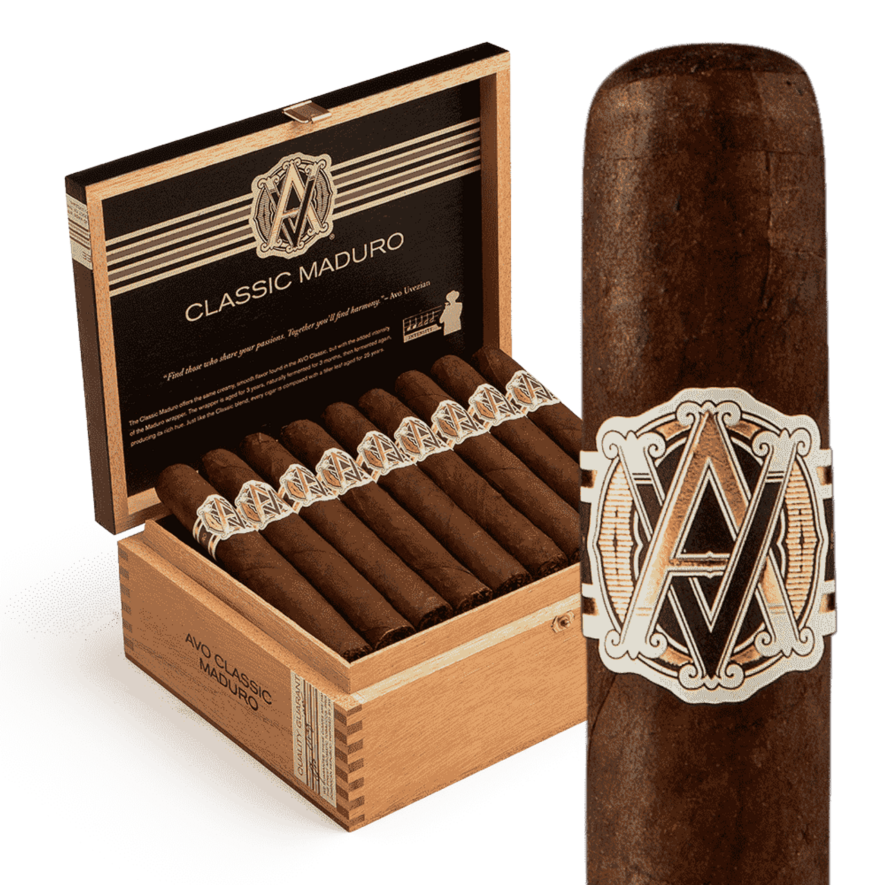 AVO Classic Maduro #2 Cigars - 6.0 x 50 (Box of 25)