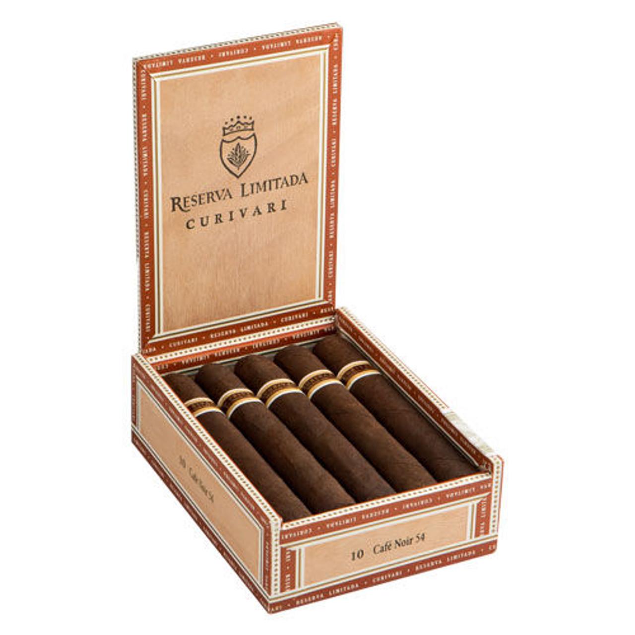 Curivari Reserva Limitada Cafe Noir Café Noir 56 Cigars - 5.5 x 56 (Box of 10)