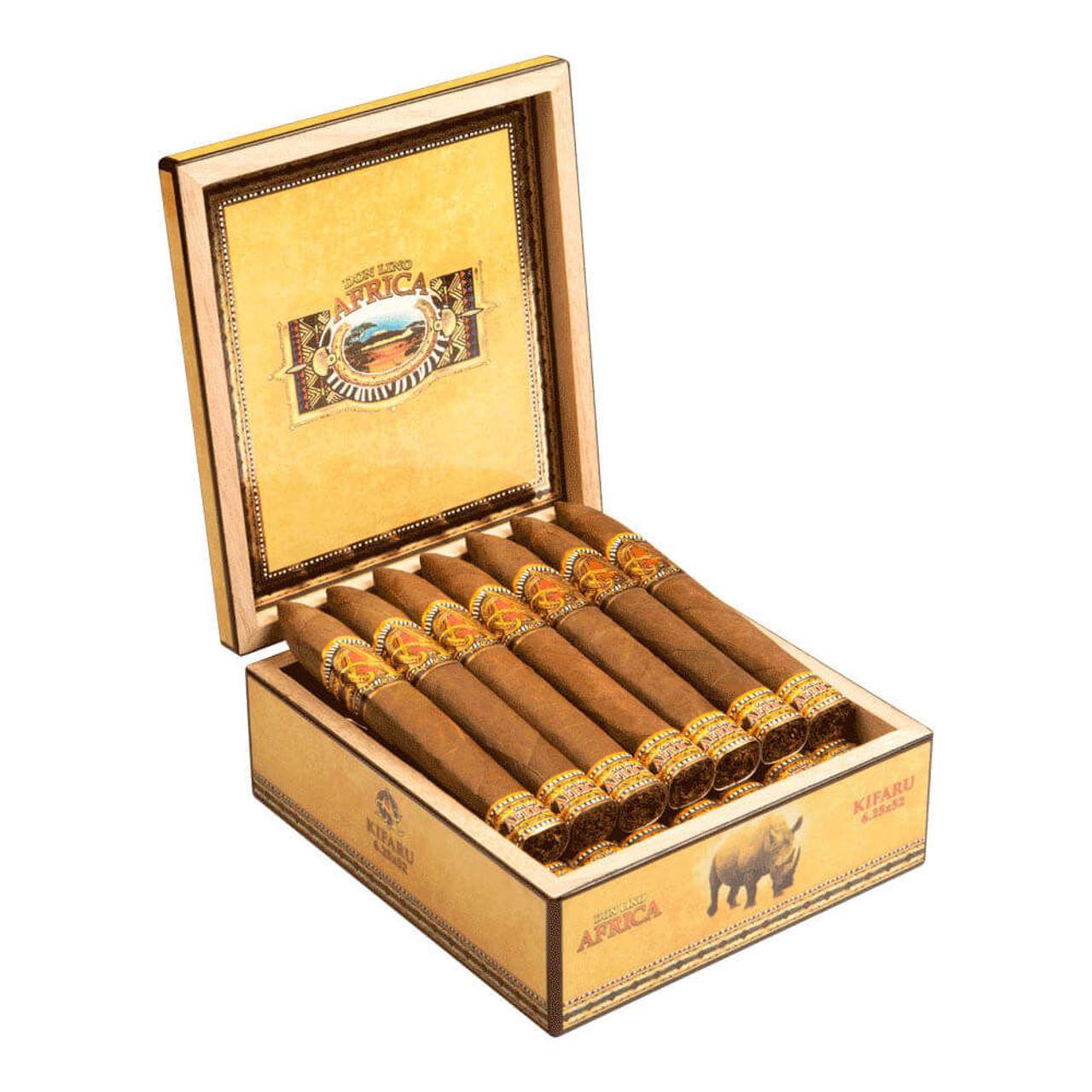 Don Lino Africa Belicoso Kifaru Cigars - 6.25 x 52 (Box of 20)