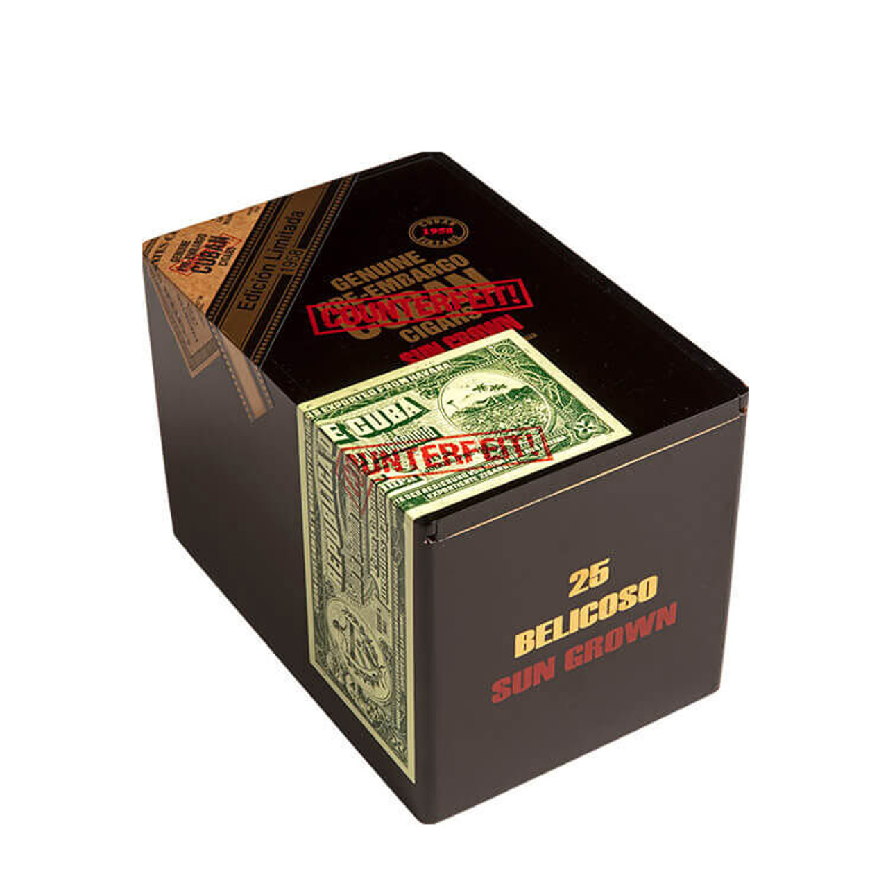 Genuine Pre-Embargo C.C. Sun Grown 1958 Belicoso Cigars - 6.0 x 54 (Box of 25)