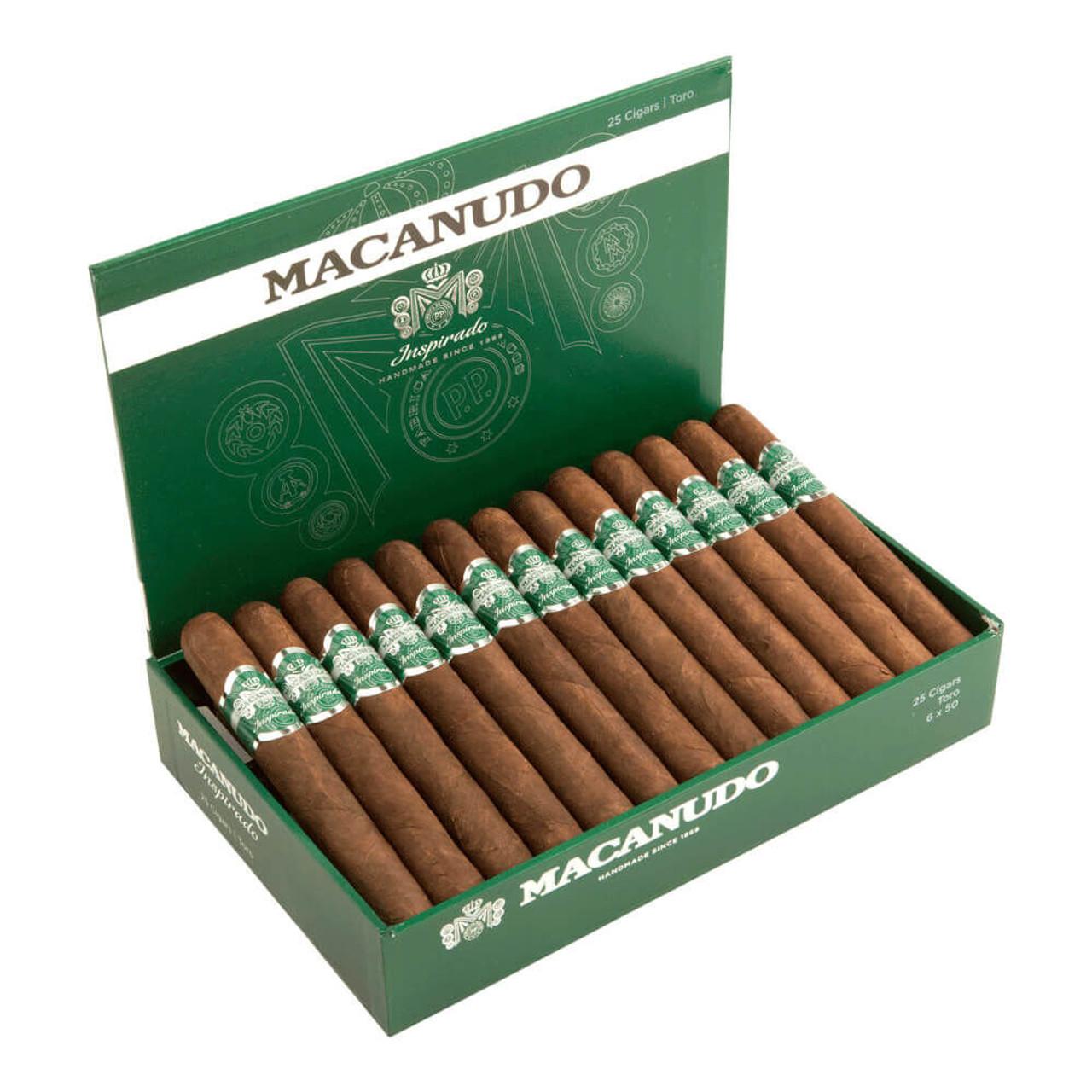 Macanudo Inspirado Green Churchill Cigars - 7.0 x 50 (Box of 25)