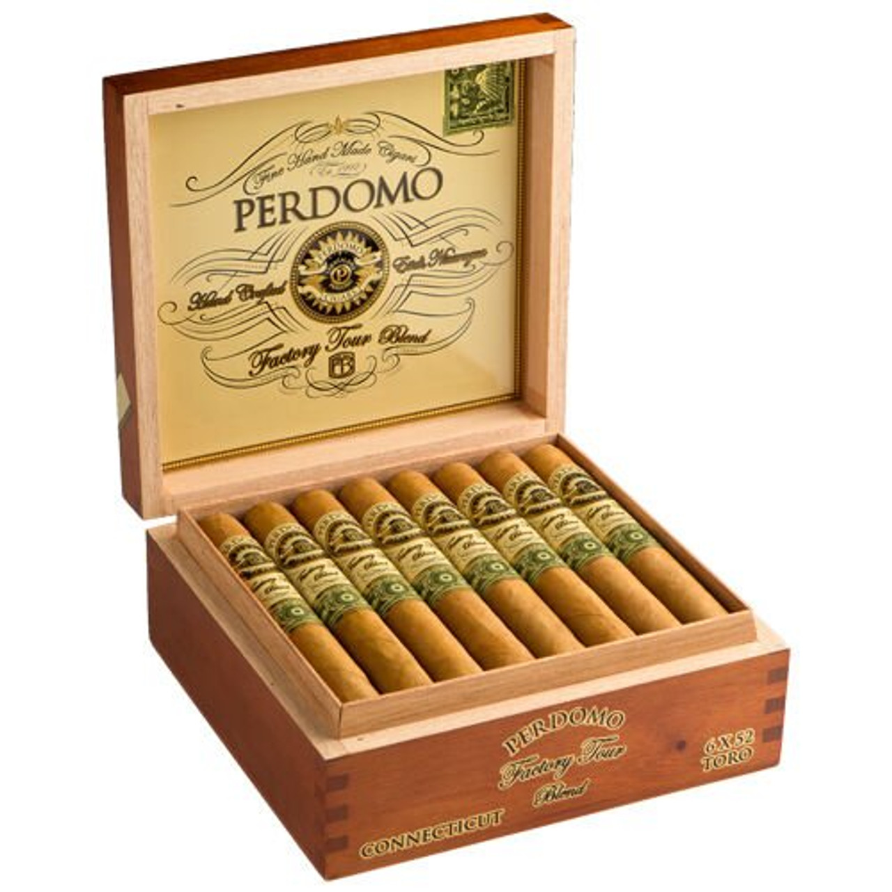 Perdomo Factory Tour Blend Connecticut Robusto Cigars - 5.0 x 52 (Box of 24)