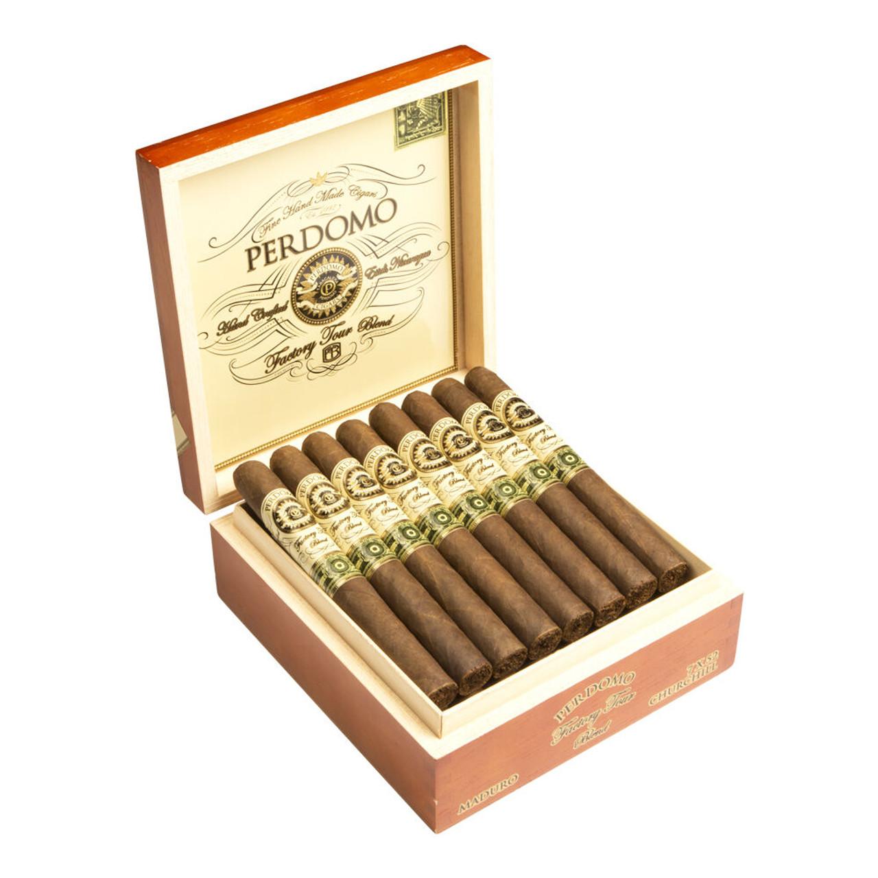 Perdomo Factory Tour Blend Maduro Churchill Cigars - 7.0 x 52 (Box of 24)