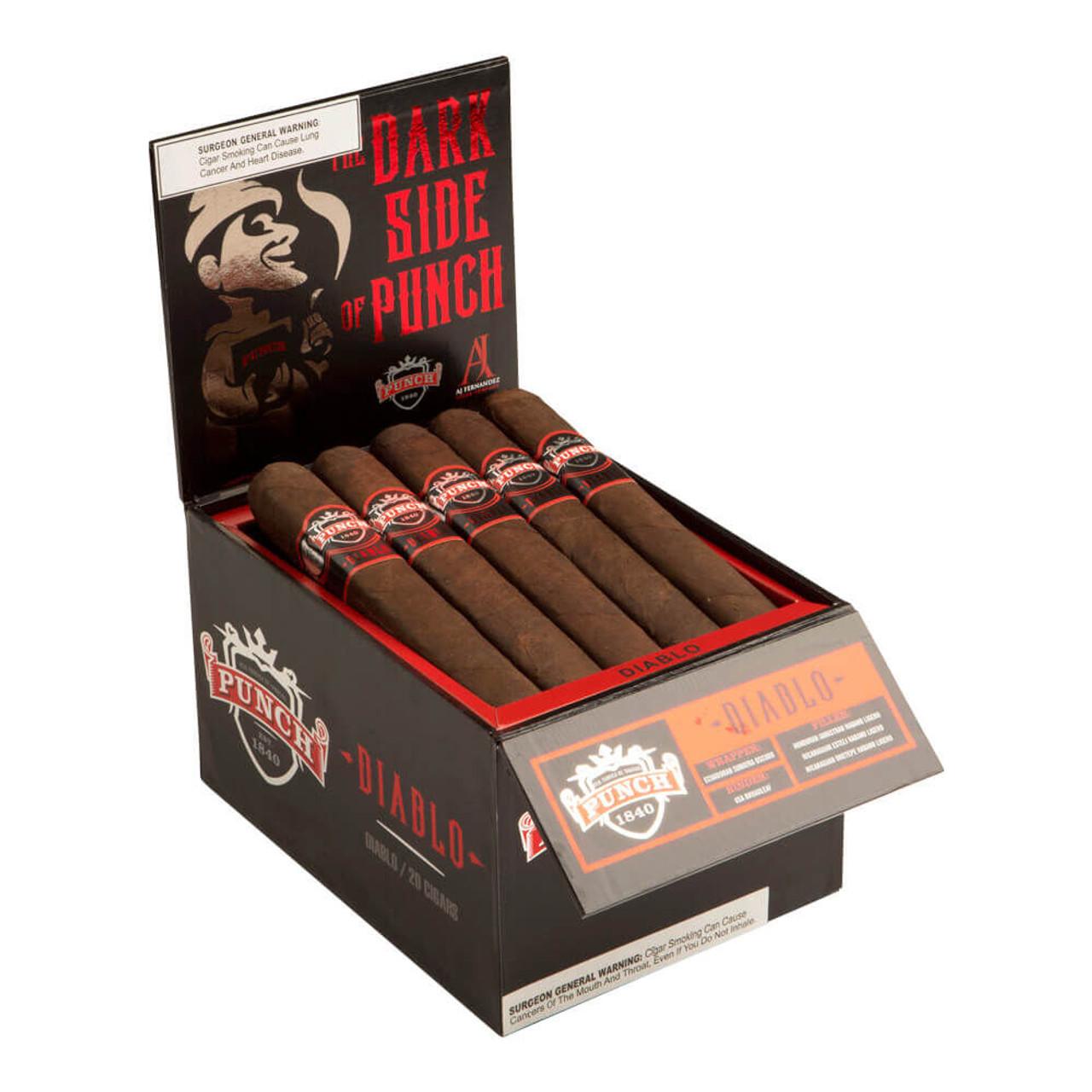 Punch Diablo El Diablo Box Pressed Cigars - 6.5 x 66 (Box of 20)