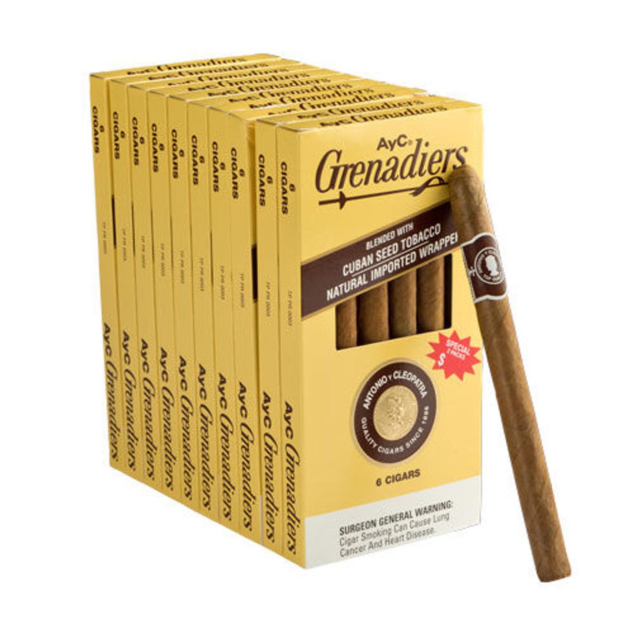 Antonio y Cleopatra Grenadiers Cigars - 6.25 x 33 (10 Packs of 6 (60 total))
