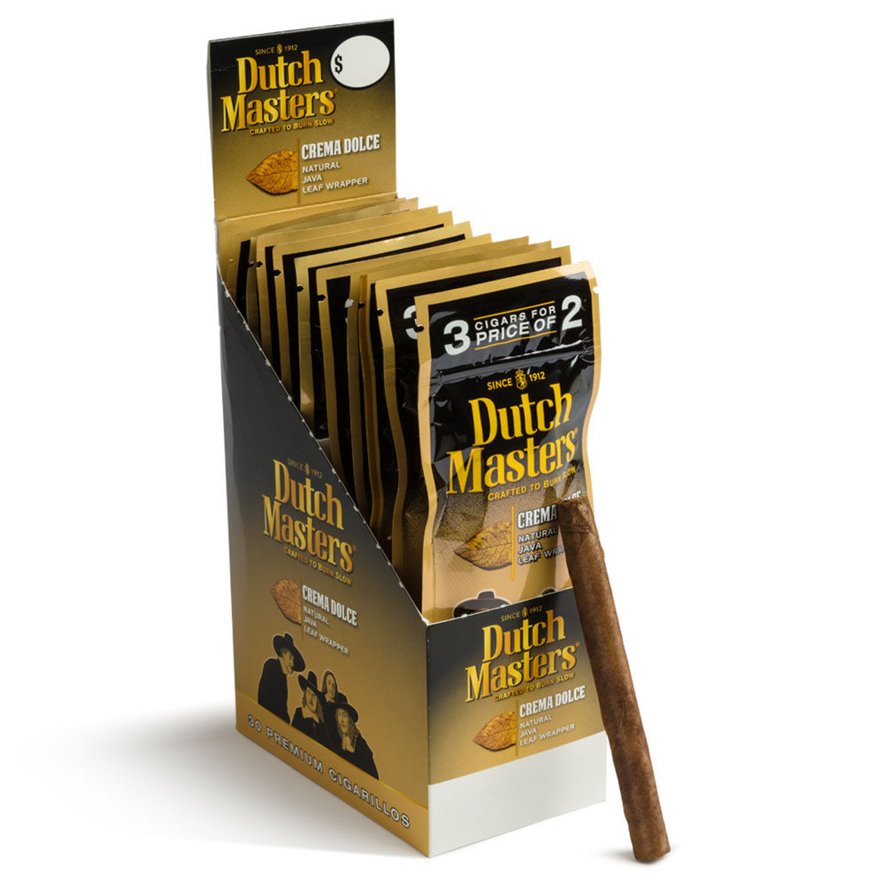 Dutch Masters Cigarillos 3pk Foil Crema Dolce Cigars - 4.5 x 28 (20 packs of 3 (60 total))