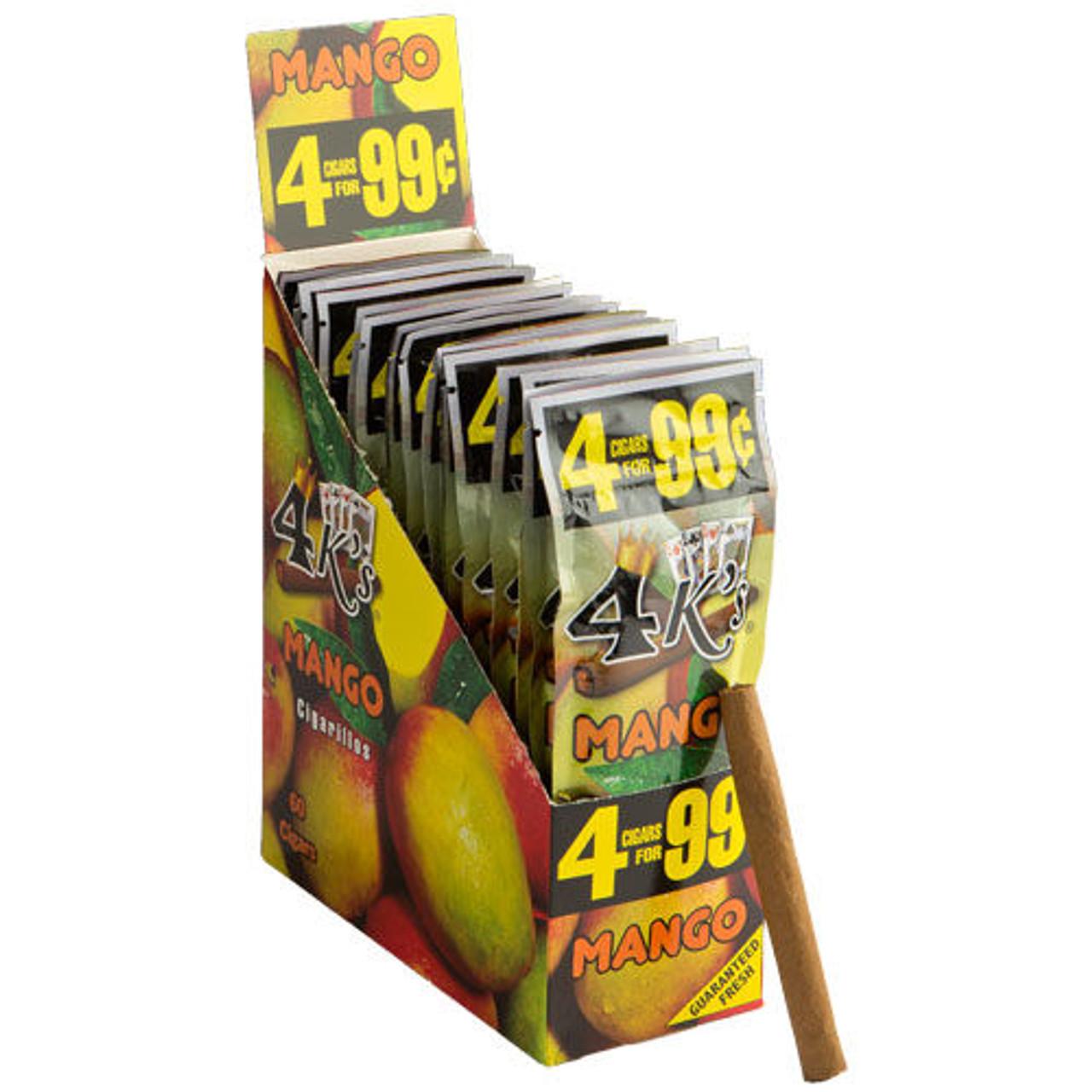 Good Times 4 K's Cigarillos Mango Cigars - 4.25 x 28 (15 Packs of 4 (60 Total))