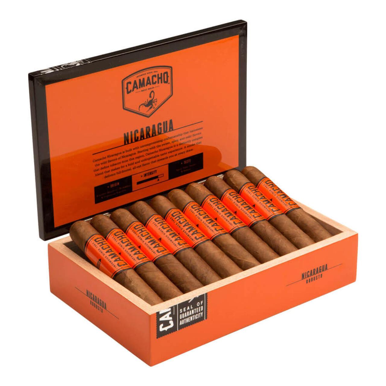 Camacho Nicaragua Robusto Cigars - 5.0 x 52 (Box of 20)