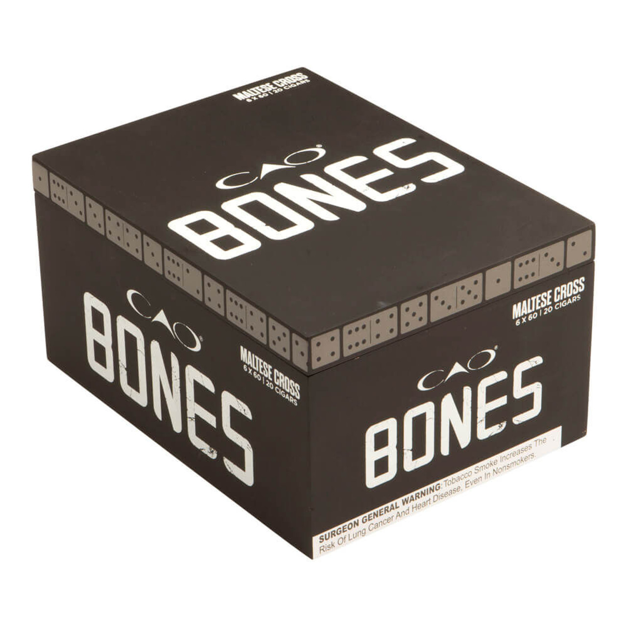CAO Bones Maltese Cross Gigante  Cigars - 6.0 x 60 (Box of 20)