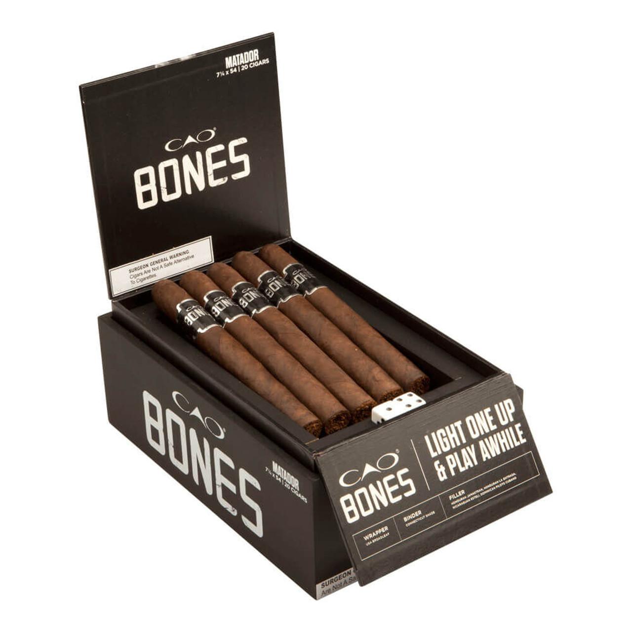 CAO Bones Matador Churchill Cigars - 7.25 x 54 (Box of 20)