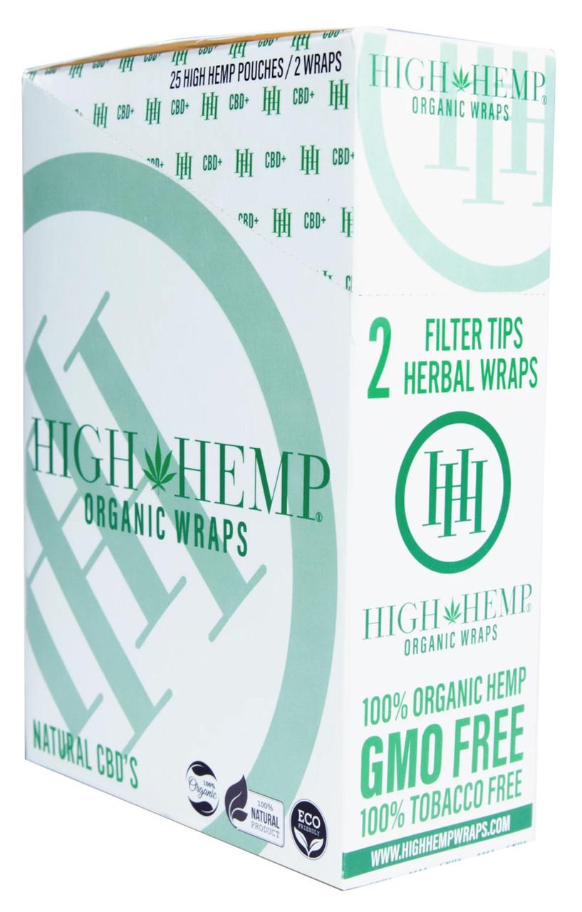 High Hemp Flavored Organic Hemp Wraps Natural Box