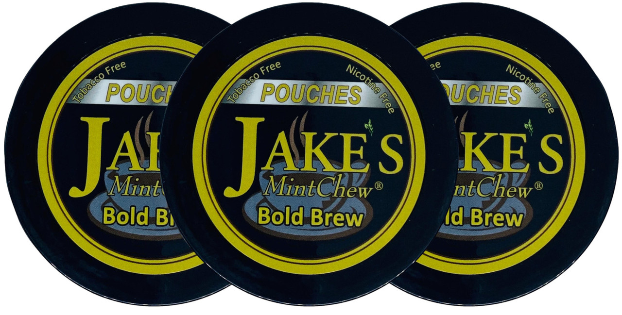 Jake's Mint Chew Pouches Bold Brew 3 Cans