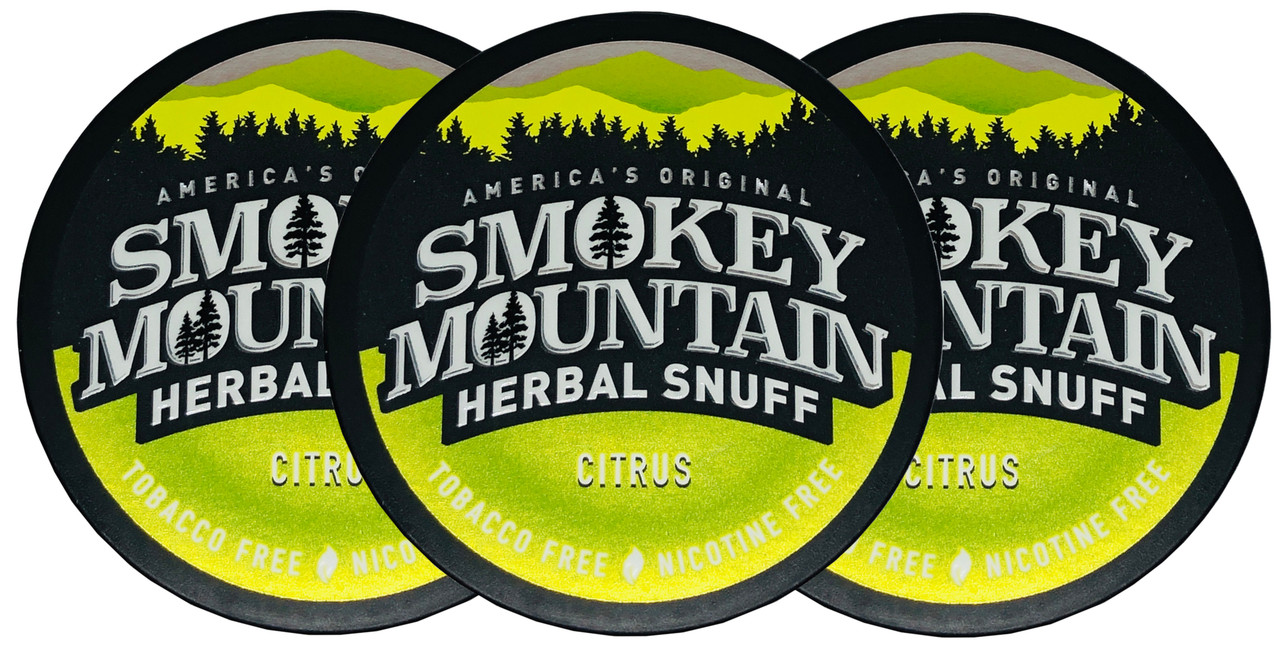 Smokey Mountain Citrus Herbal Snuff 3 Cans