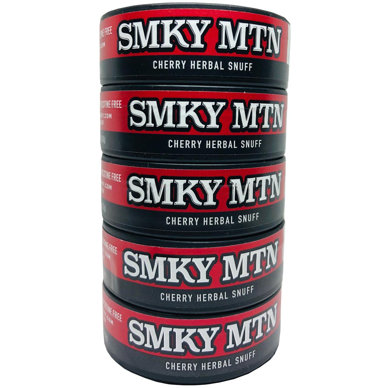 Smokey Mountain Cherry Herbal Snuff 5 Cans