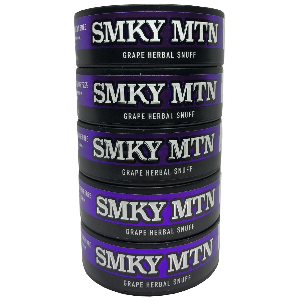 Smokey Mountain Grape Herbal Snuff 5 Cans