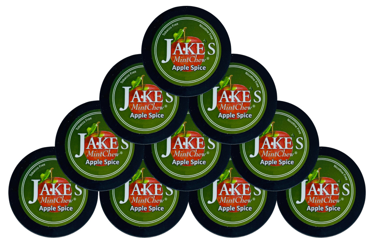 Jake's Mint Herbal Chew Apple Sp ice10 Cans
