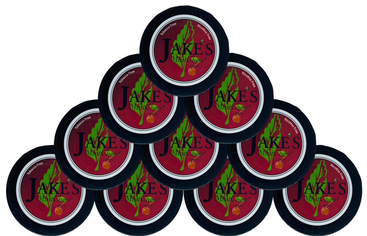 Jake's Mint Herbal Chew Cherry 10 Cans