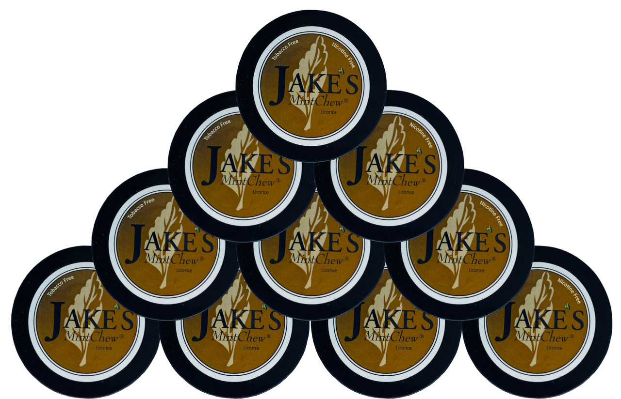 Jake's Mint Herbal Chew Licorice 10 Cans