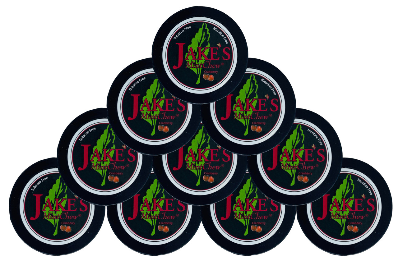 Jake's Mint Herbal Chew Cranberry 10 Cans