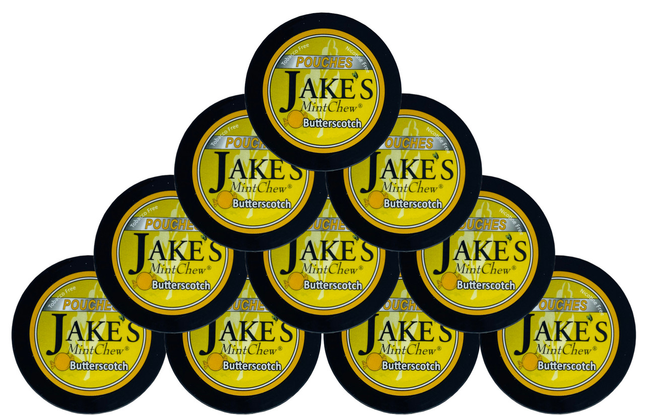 Jake's Mint Herbal Chew Pouches Butterscotch 10 Cans