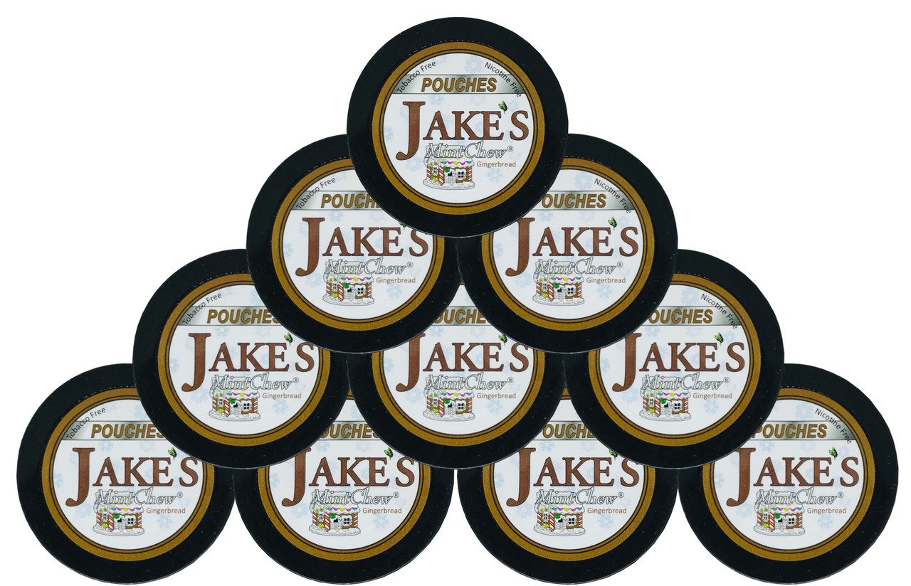 Jake's Mint Herbal Chew Pouches Gingerbread 10 Cans