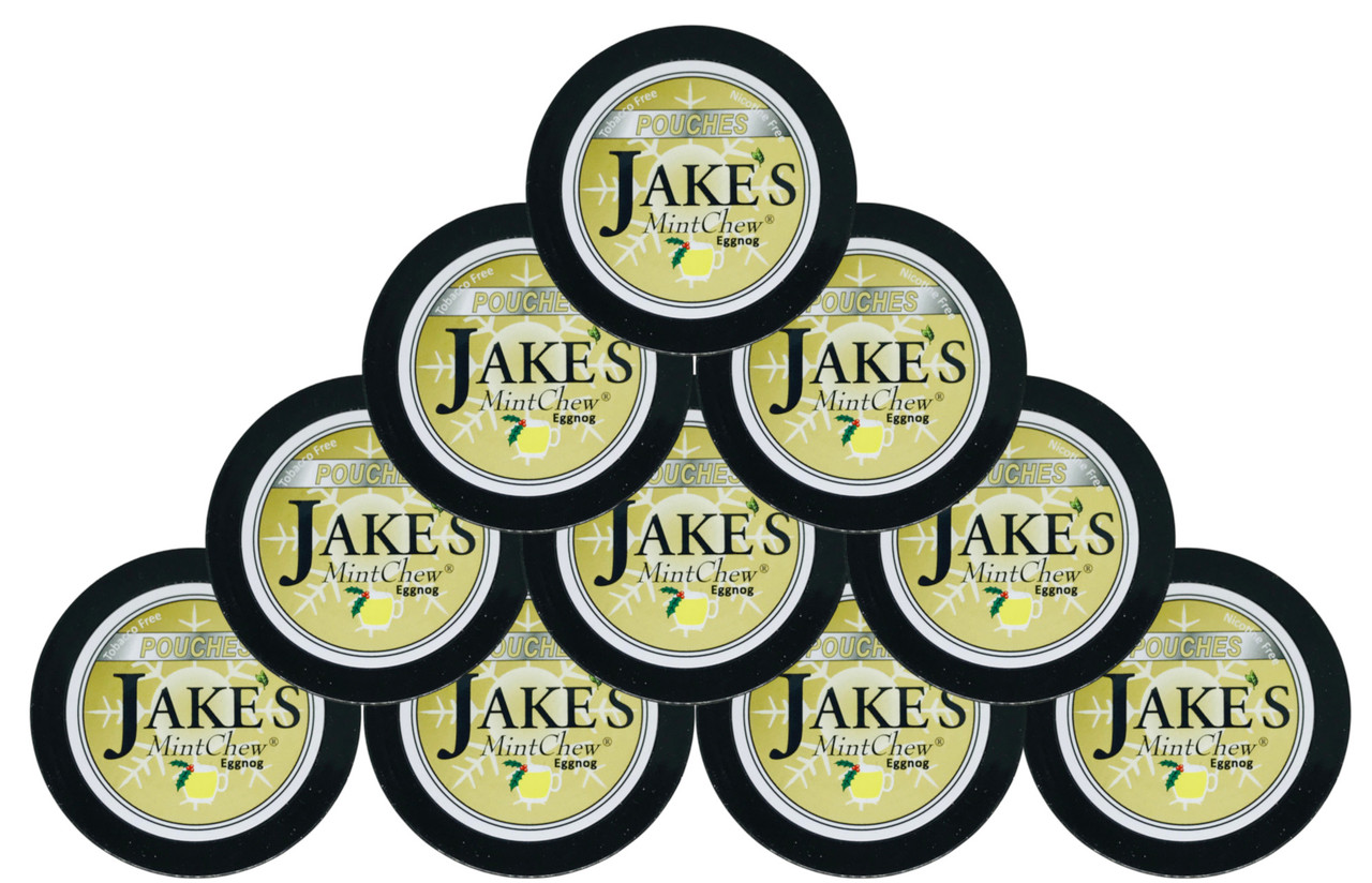 Jake's Mint Herbal Chew Pouches Eggnog 10 Cans