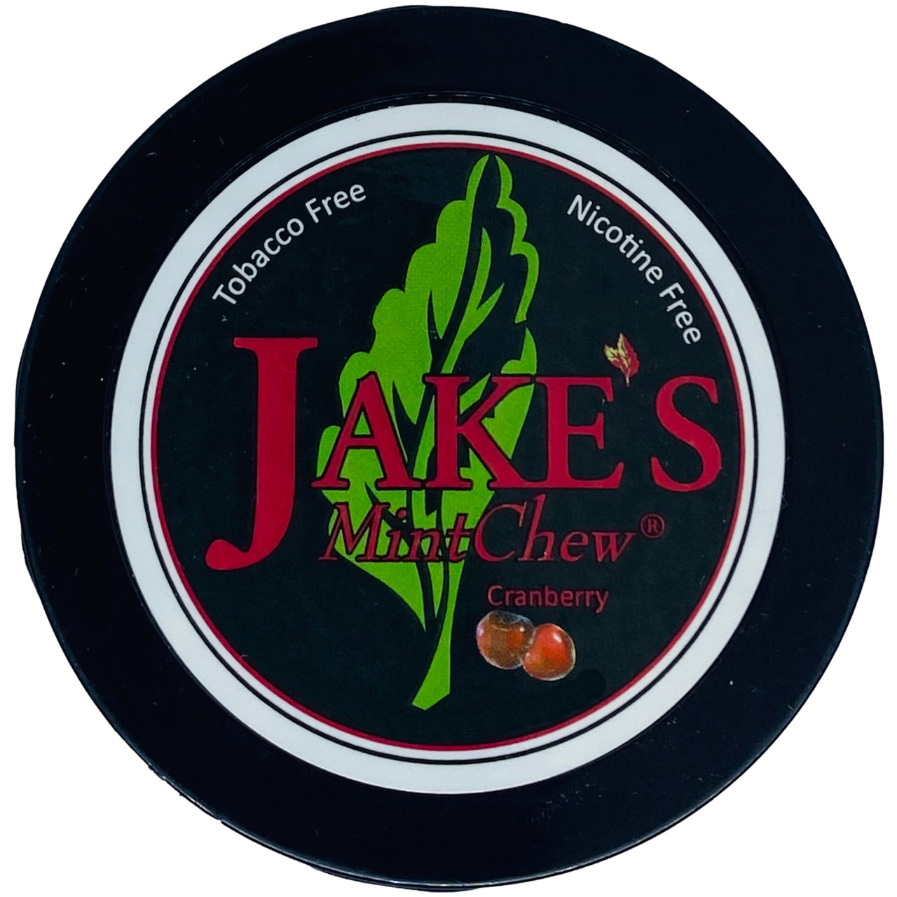 Jake's Mint Herbal Chew Cranberry 1 Can