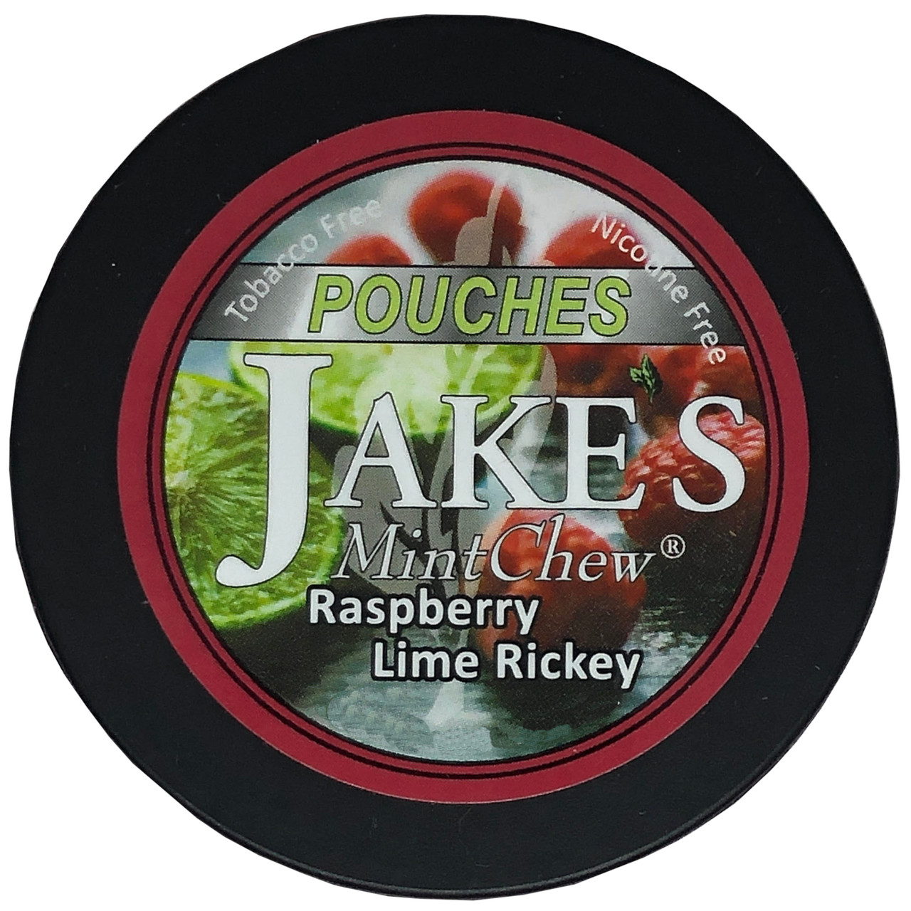 Jake's Mint Herbal Chew Pouches Raspberry Lime 1 Can