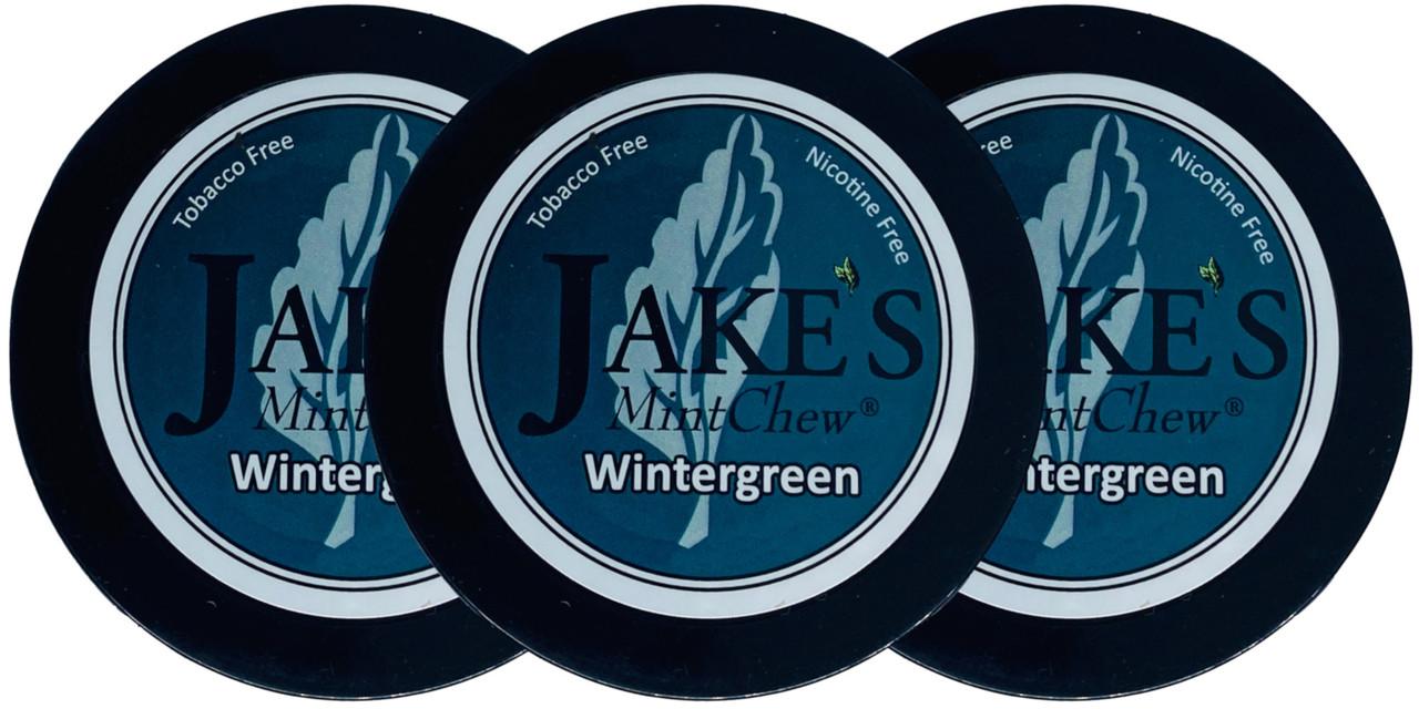 Jake's Mint Herbal Chew Wintergreen 3 Cans
