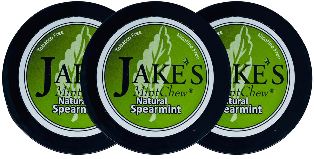 Jake's Mint Herbal Chew Spearmint 3 Cans