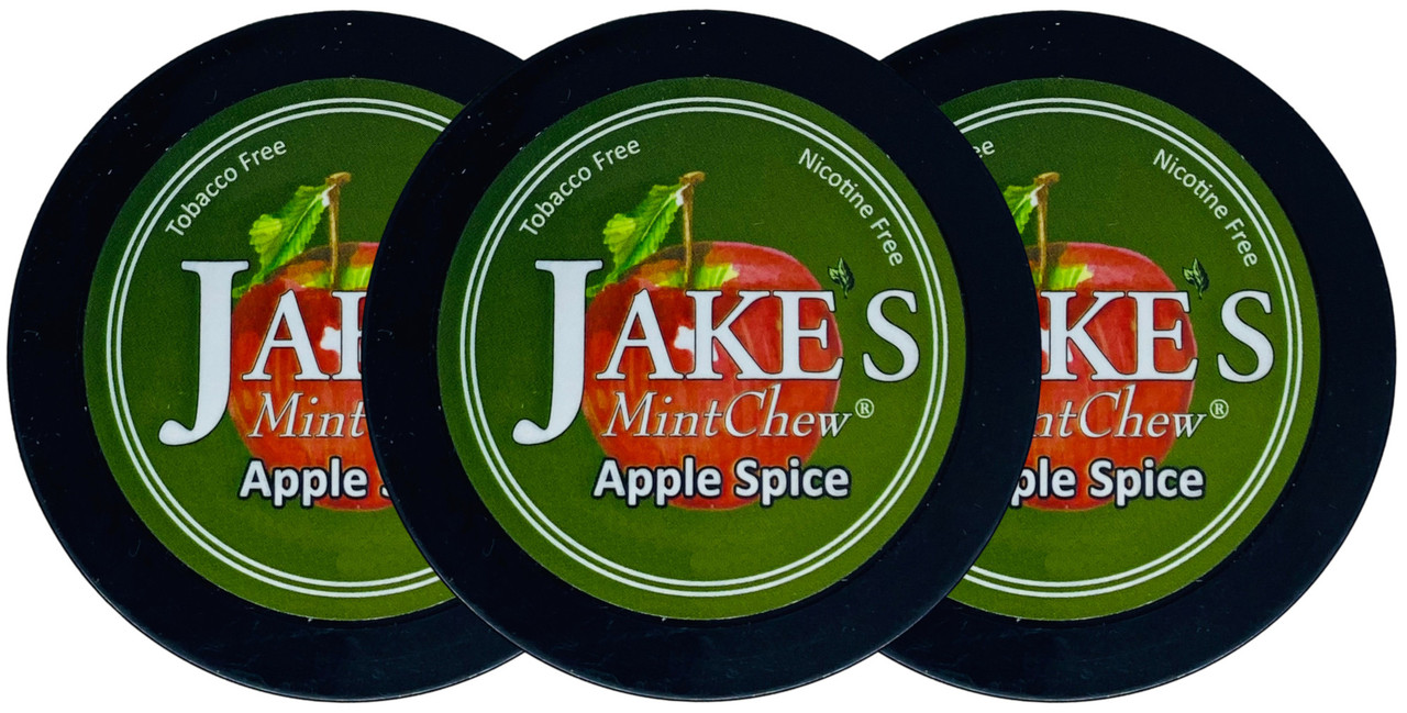 Jake's Mint Herbal Chew Apple Spice 3 Cans