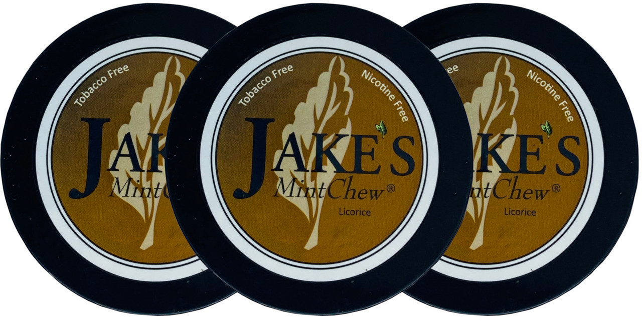 Jake's Mint Herbal Chew Licorice 3 Cans