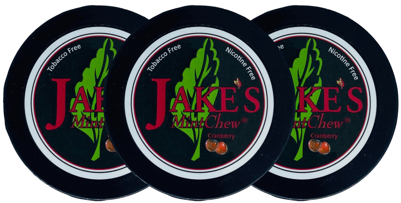 Jake's Mint Herbal Chew Cranberry 3 Cans