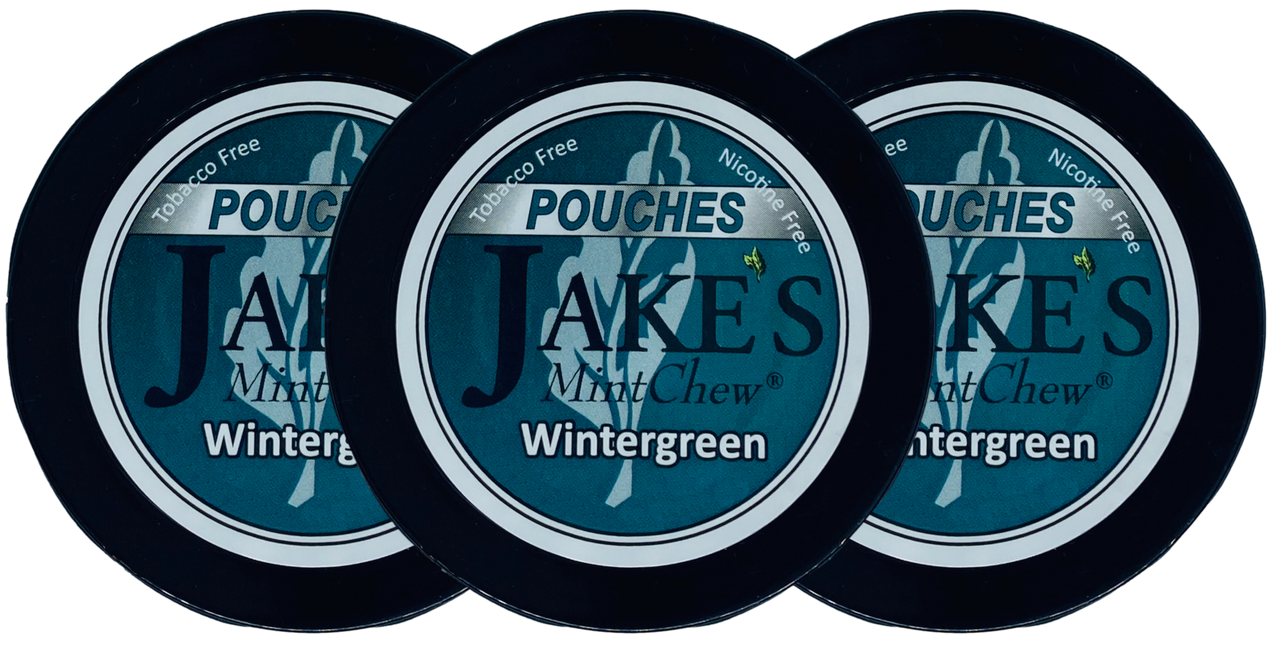 Jake's Mint Herbal Chew Pouches Wintergreen 3 Cans