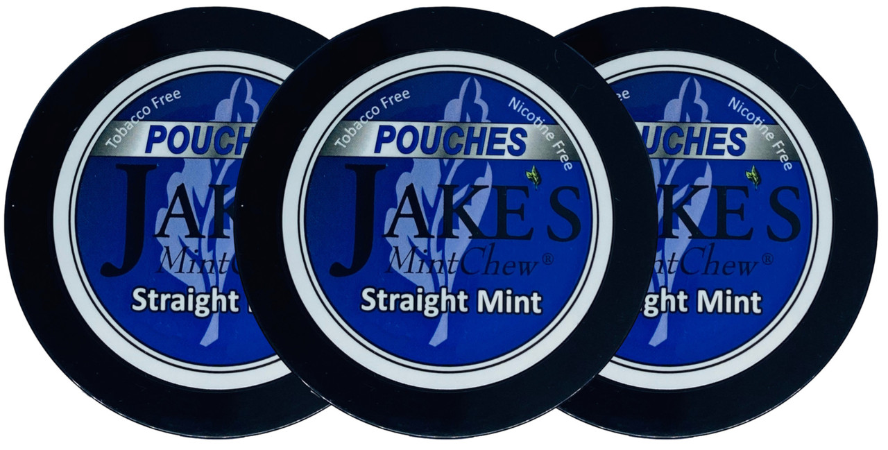 Jake's Mint Herbal Chew Pouches Straight Mint 3 Cans