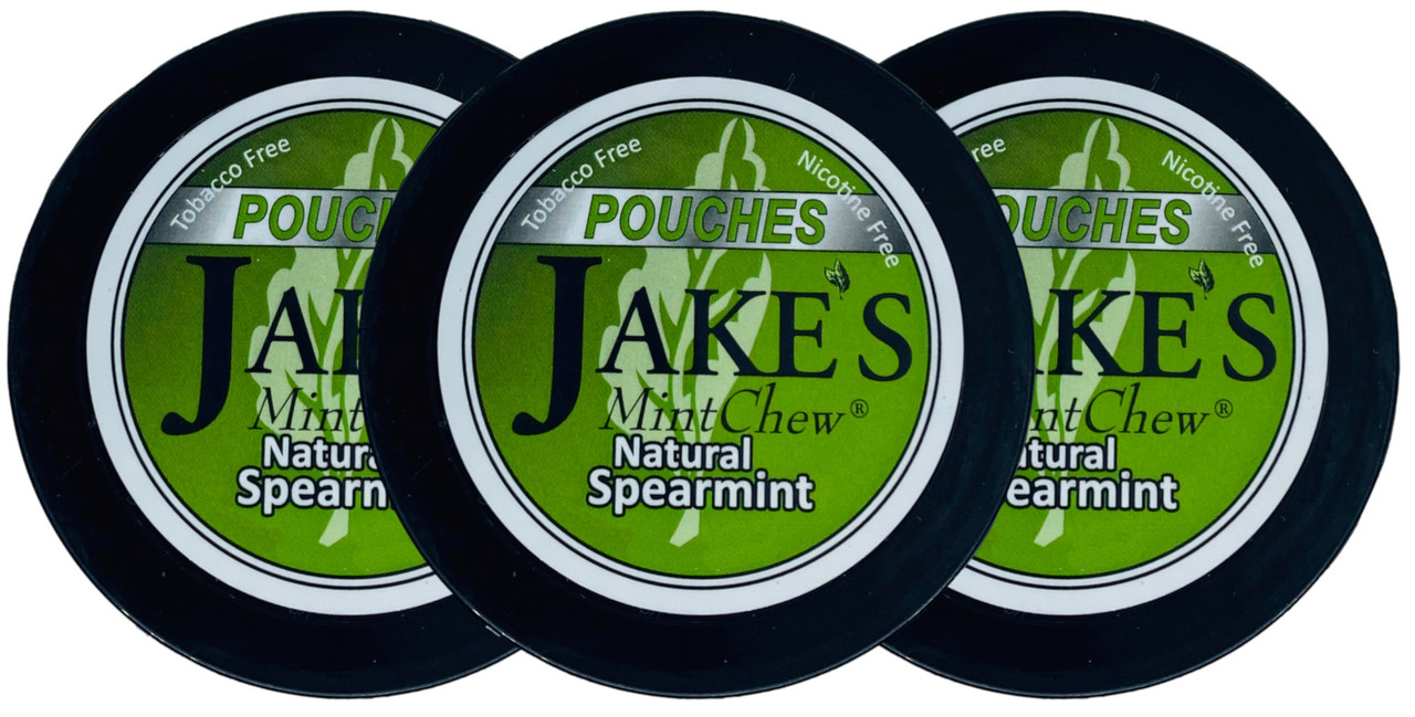 Jake's Mint Herbal Chew Pouches Spearmint 3 Cans