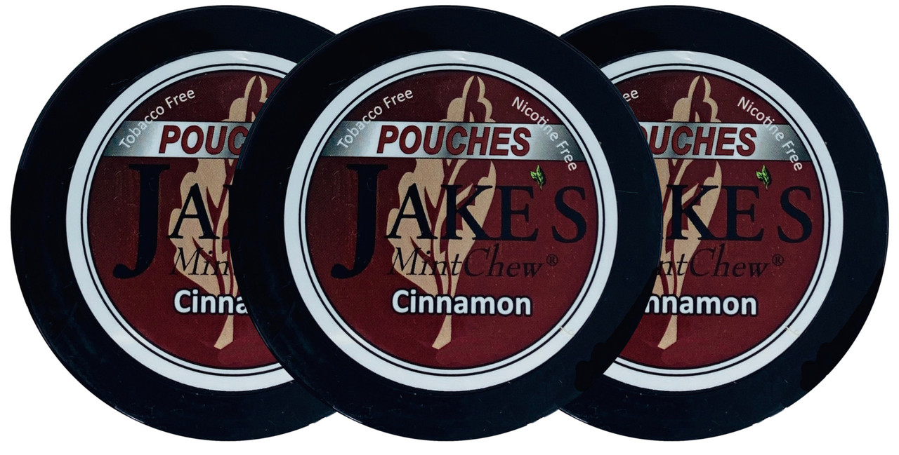 Jake's Mint Herbal Chew Pouches Cinnamon 3 Cans