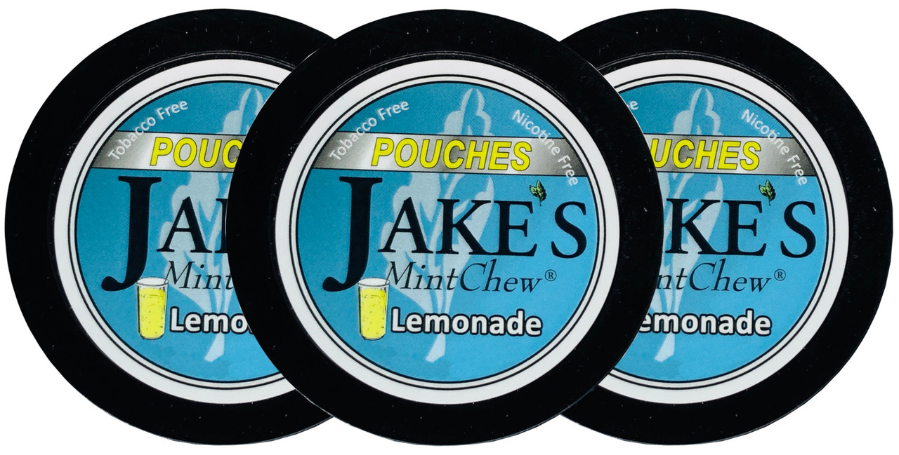 Jake's Mint Herbal Chew Pouches Lemonade 3 Cans