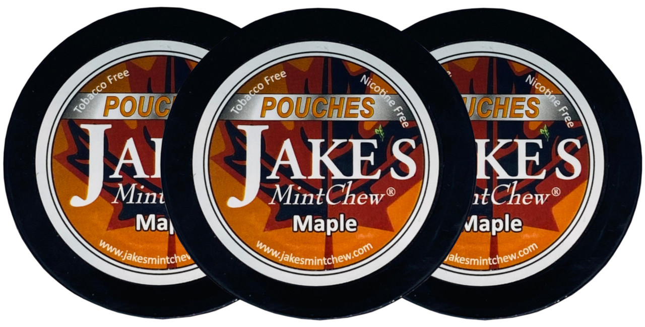 Jake's Mint Herbal Chew Pouches Maple 3 Cans